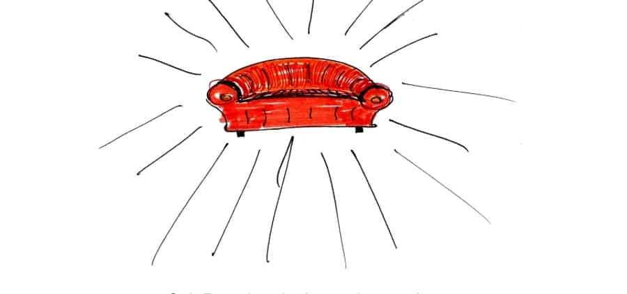 Positiv denken auf dem Sofa