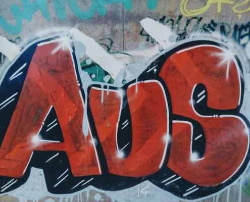 Graffiti negativ