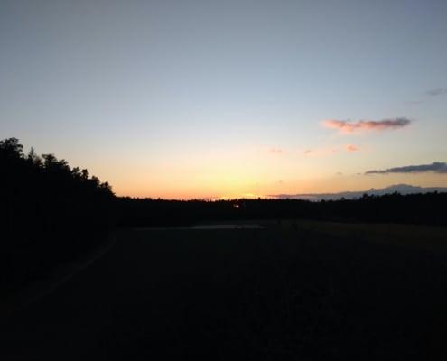 Sonnenaufgang neuer Tag