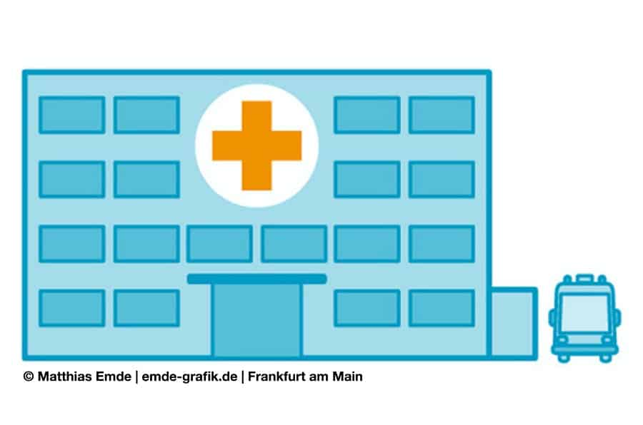 Krankenhaus Illustration